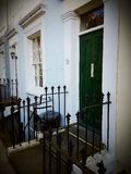 Facade front entrance estate London uk. Britain england British English London UK estate Stock Photos