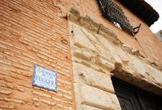 Facade of Fugger Palace, Almagro, Spain stock photos