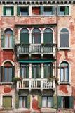 facade gammala venice Arkivbilder