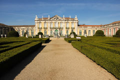 Facade and gardens. National Palace. Queluz. Portugal Stock Photo