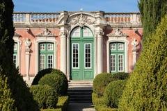 Facade & gardens. National Palace. Queluz. Portugal Stock Photos