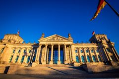German parliament in Berlin Royalty Free Stock Photography