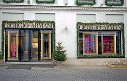 Facade of Giorgio Armani flagship store Stock Image