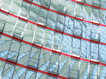 Facade of glass. Of a modern building in the Sony-Center in Berlin Royalty Free Stock Photo