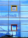 Facade of glass. Shot of a building in Germany royalty free stock images