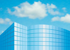 Facade from glass. Against the sky Royalty Free Stock Photography
