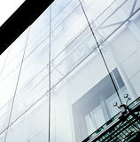 Facade of glass. Modern building in downtown Royalty Free Stock Photography