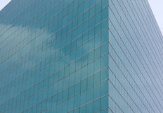 The facade glass of modern building. In financial district area Stock Photo