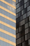 Facade glass windows of two building (Toronto, Canada) Stock Image