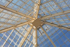 Dome of transparent roof Royalty Free Stock Images