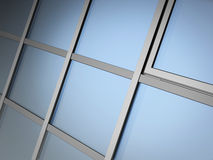 Facade glazing system Royalty Free Stock Photo