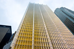 Facade of gold and black glass skyscrapers Royalty Free Stock Image
