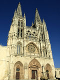 Facade of the gothic  cathedral of burgos Royalty Free Stock Photo