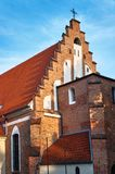The facade of the Gothic church Stock Image