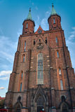 The facade of the Gothic evangelical church Stock Image