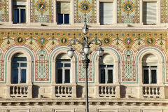 Facade of Government Palace on Piazza Unita d`Italia in Trieste, Royalty Free Stock Photos
