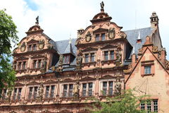 facade of the great ruins of the castle of heidelb Stock Images