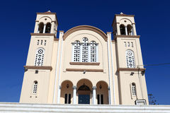 Facade of greek church Stock Image
