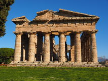 Facade of a greek temple Royalty Free Stock Photos