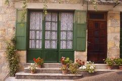 Facade Saint-Cyprien Dordogne Stock Images