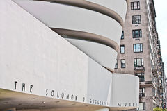 Facade of the Guggenheim Museum Royalty Free Stock Images