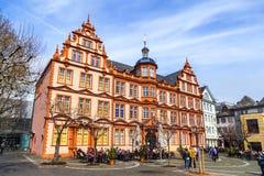Facade of Gutenberg house in Mainz Stock Image