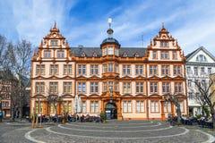 Facade of Gutenberg house in Mainz Stock Photography