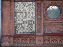 Facade of Hackescher Markt Railway Station stock photo
