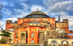 Facade of Hagia Sophia (Holy Wisdom) - Istanbul Royalty Free Stock Photo