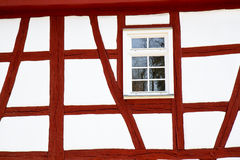 Facade of a half-timbered historic house Stock Photography