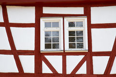 Facade of a half-timbered historic house Royalty Free Stock Photo