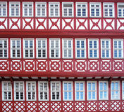 Facade of a Half Timbered House Stock Photos