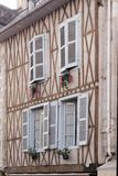 Facade of a half-timbered house Royalty Free Stock Images