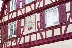 Facade of a half-timbered house, Germany. Facade of a half-timbered historic house, Germany Royalty Free Stock Image