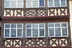 Facade of a half-timbered house, Germany Stock Image