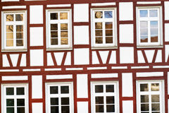 Facade of a half-timbered house, Germany. Facade of a half-timbered historic house, Germany Royalty Free Stock Photography