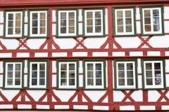 Facade of a half-timbered house, Germany. Facade of a half-timbered historic house, Germany Stock Photo