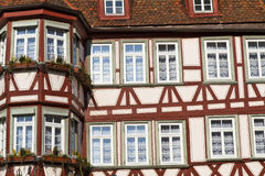 Facade of a half-timbered house, Germany. Facade of a half-timbered historic house, Germany Royalty Free Stock Images