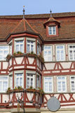Facade of a half-timbered house, Germany Stock Images
