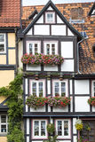 Facade of a half-timbered house Stock Photos
