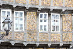 Facade of a half-timbered house Stock Images
