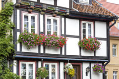 Facade of a half-timbered house Stock Photography