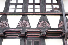 Facade of a half-timbered house Stock Photo
