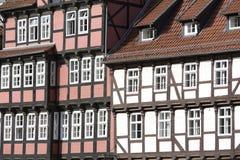 Facade of half-timbered houses Stock Photos