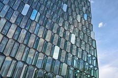 Facade of Harpa Hall in Reykjavik Stock Photo