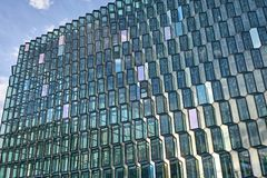 Facade of Harpa Hall in Reykjavik Royalty Free Stock Photography
