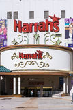 Facade of Harrahs casino in Reno Stock Image