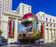 Facade of Harrahs casino in Reno Stock Photo