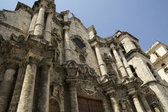 Facade of Havana Cathedral in Cuba Stock Photos