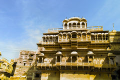 Facade of Haweli House in Jaisalmer, Rajasthan Stock Images
